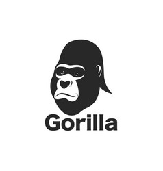 gorilla face design on white background vector image