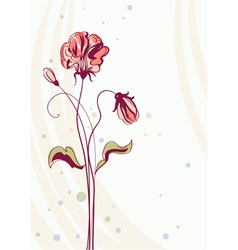 greeting card with flowers background vector image