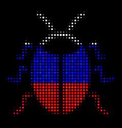 Halftone russian bug icon vector