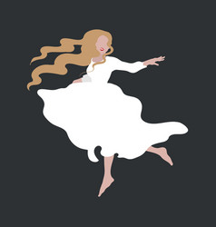Hand drawn fashion girl in white vector