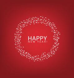 happy new year label vector image