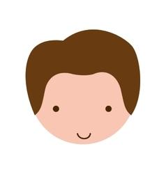 head boy caucasian and smile vector image