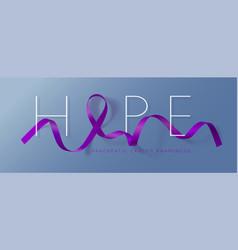 Hope pancreatic cancer awareness calligraphy vector