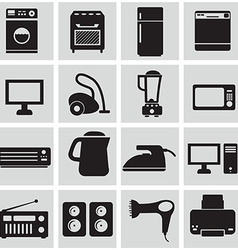 Household icons vector image