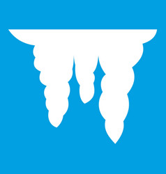 Icicles icon white vector