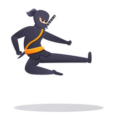 Karate ninja icon cartoon style vector