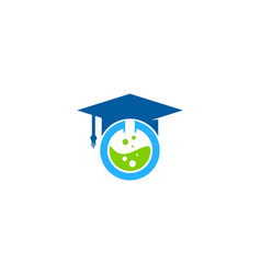 Lab education logo icon design vector