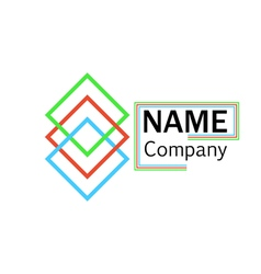 Logo company name interlocking squares vector