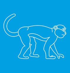 Mandrill monkey icon outline style vector
