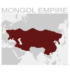 Map of the mongol empire vector