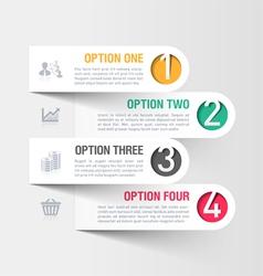 Modern business infographics template vector
