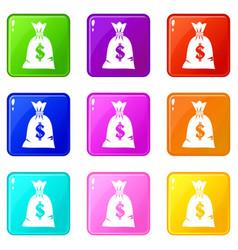 Money bag set 9 vector