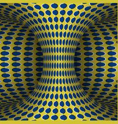 Moving polka dots hyperboloid optical vector