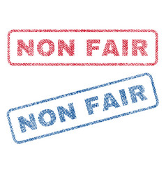 Non fair textile stamps vector