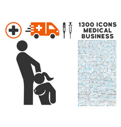 oral sex persons icon with 1300 medical business vector image