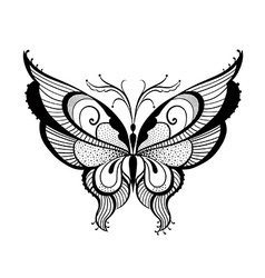 Ornamented abstract butterfly vector image