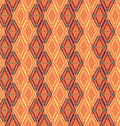 Pattern of colored diamonds vector image