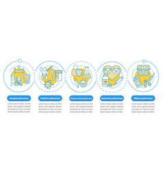 Pharmacy branches infographic template business vector
