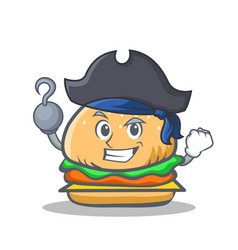 Pirate burger character fast food vector