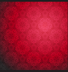 red ornamental seamless pattern vector image