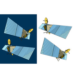 Satellite from different angles vector