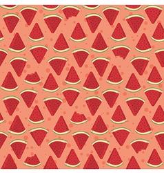Seamless Pattern Watermelon Triangle Slice Bite vector