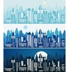 set cityscape background vector image