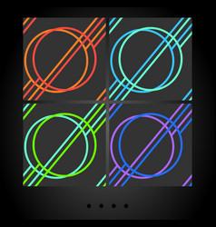 set of dark seamless patterns vector image