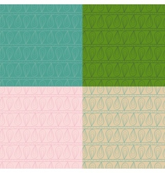 Set of ethnic ornament abstract seamless patterns vector image