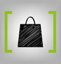 shopping bag black scribble vector image vector image