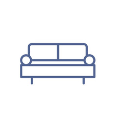 simple sofa icon in line art style outline vector image