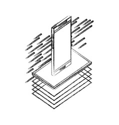 smartphone isometric device digital technology vector image