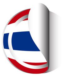 Sticker design for flag thailand vector