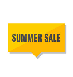 summer sale price tag vector image