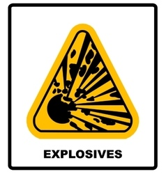 symbol of the explosion in the triangle vector image