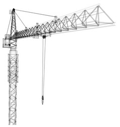 tower construction crane rendering of 3d vector image