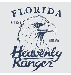 Vintage label with eagle head vector