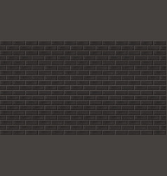 vintage style old dark brick wall background vector image