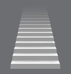 White realistic stair concept modern staircase vector