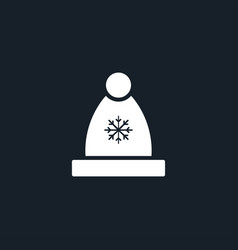 winter hat icon simple vector image vector image
