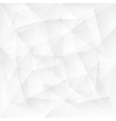 Abstract white triangle polygonal background vector image vector image