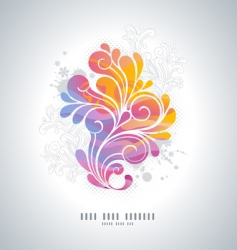 rainbow swirls vector image vector image