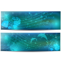 sea abstract banner vector image vector image