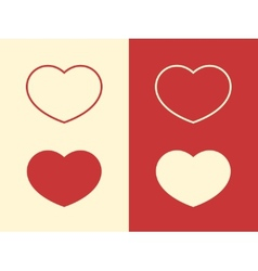 Valentine day hearts vector image