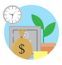 capitalization and growth capital vector image vector image