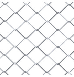 chain link fence background industrial style vector image vector image