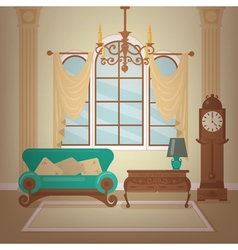 Classic Home Interior of Living Room vector image
