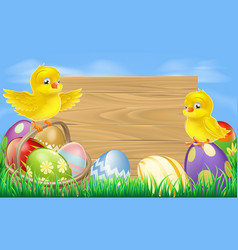 easter eggs sign vector image