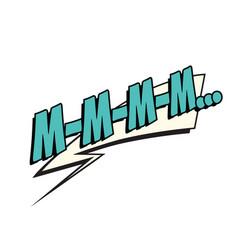 mmm comic word vector image vector image