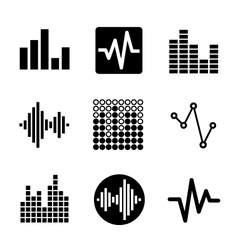 Music soundwave icons set vector image vector image